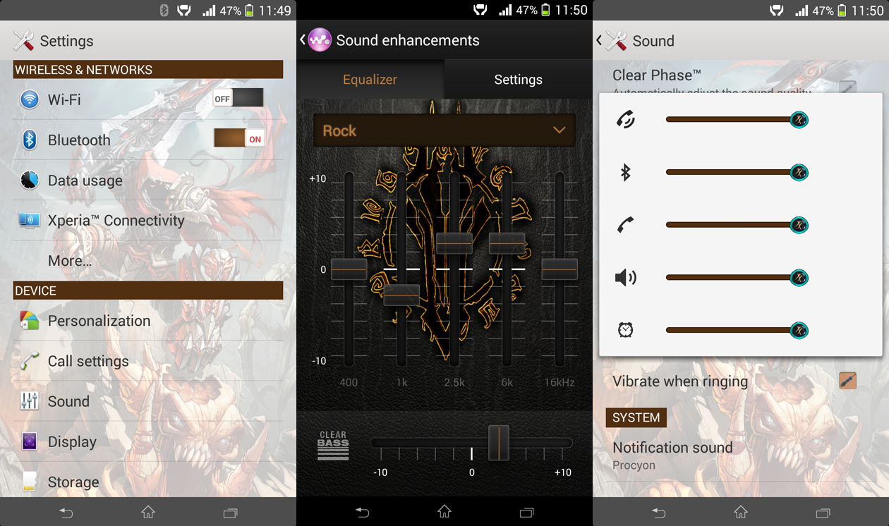 Xperia Darksiders theme