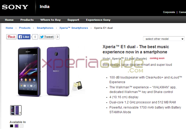 December, sony xperia e dual price in india 2014 need