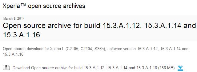 Xperia L 15.3.A.1.16 firmware