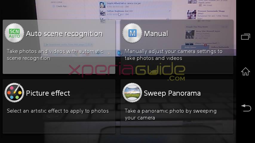 Xperia M 15.4.A.0.23 Camera apps