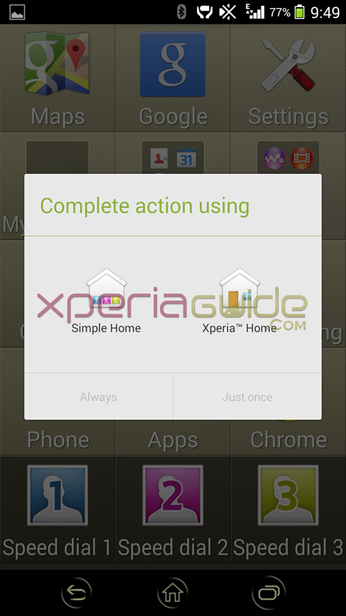 Xperia Simple Home Launcher