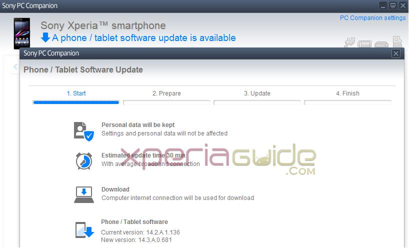 Xperia Z1 14.3.A.0.681 C6902 India Update