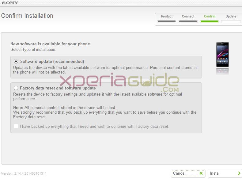 Xperia Z1 14.3.A.0.681 C6902 SUS update