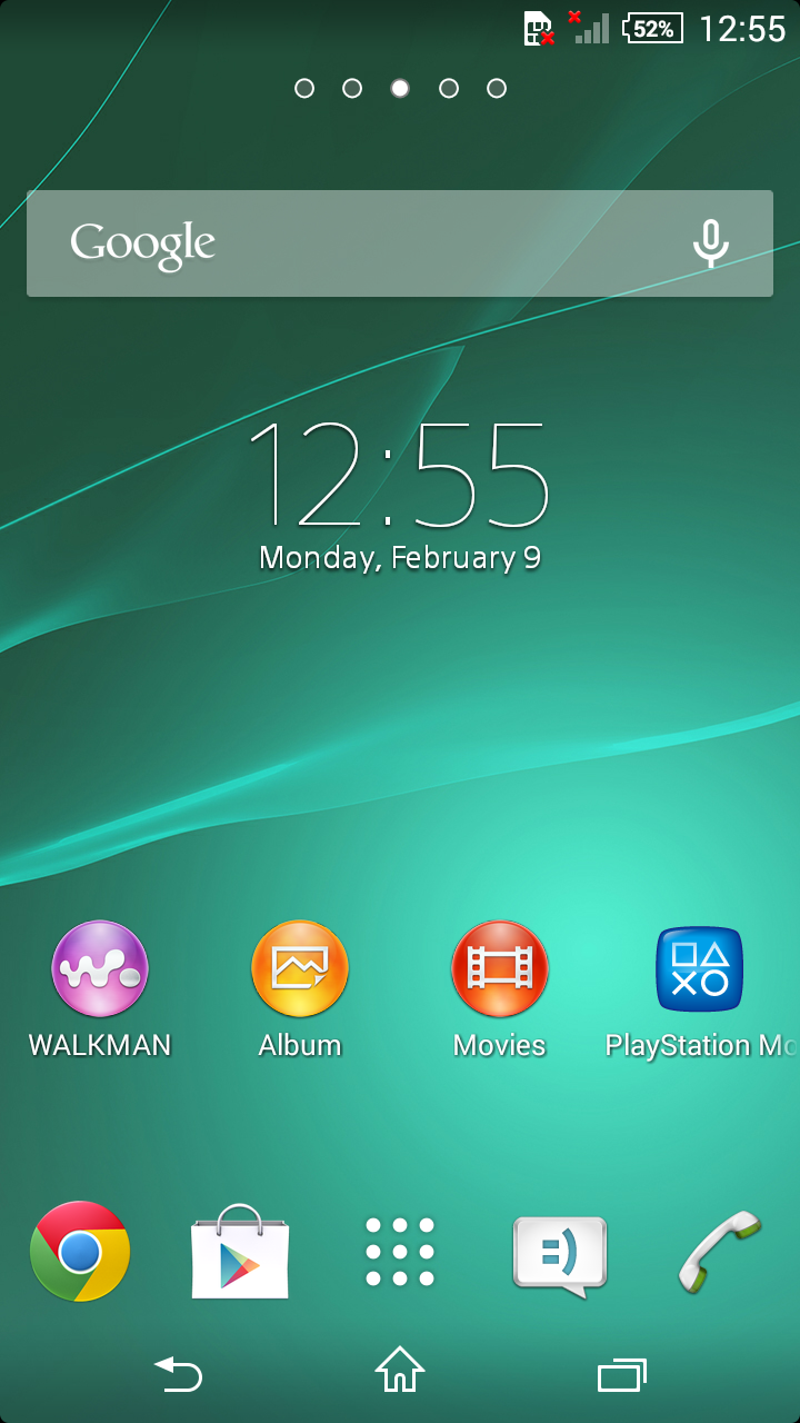 Xperia Z1 Compact 14.3.A.0.681 Home Screen