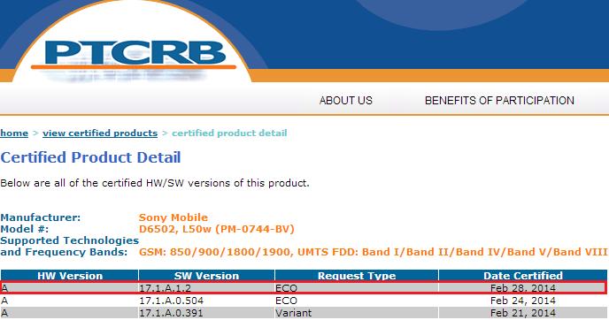 Xperia Z2 17.1.A.1.2 firmware