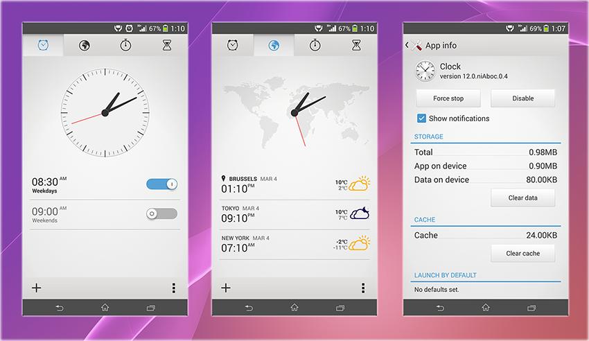 Xperia Z2 Clock App apk