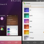 Install Xperia Z2 KitKat themes and task killer app port