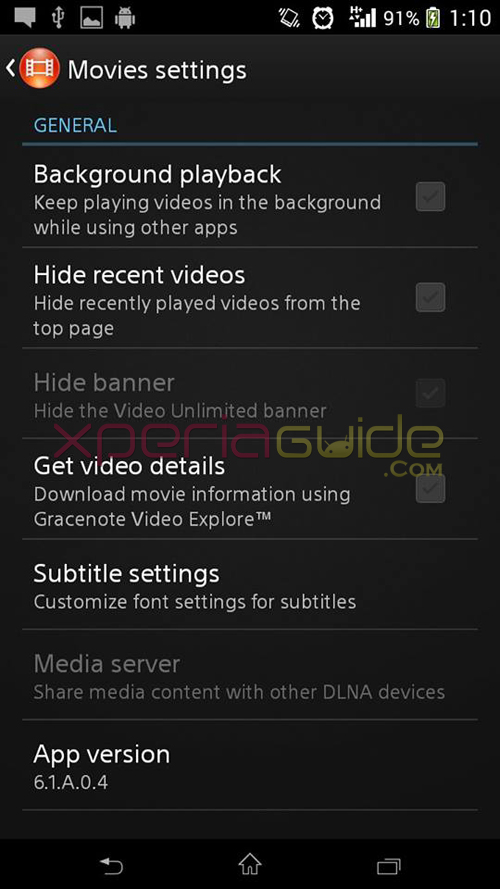 Xperia Z2 Movies 6.1.A.0.4 app
