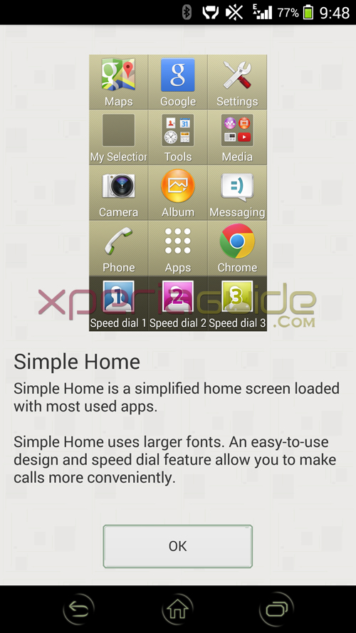 Xperia Z2 Simple Home Launcher