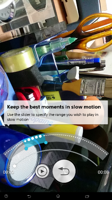 Xperia Z2 Timeshift Video app