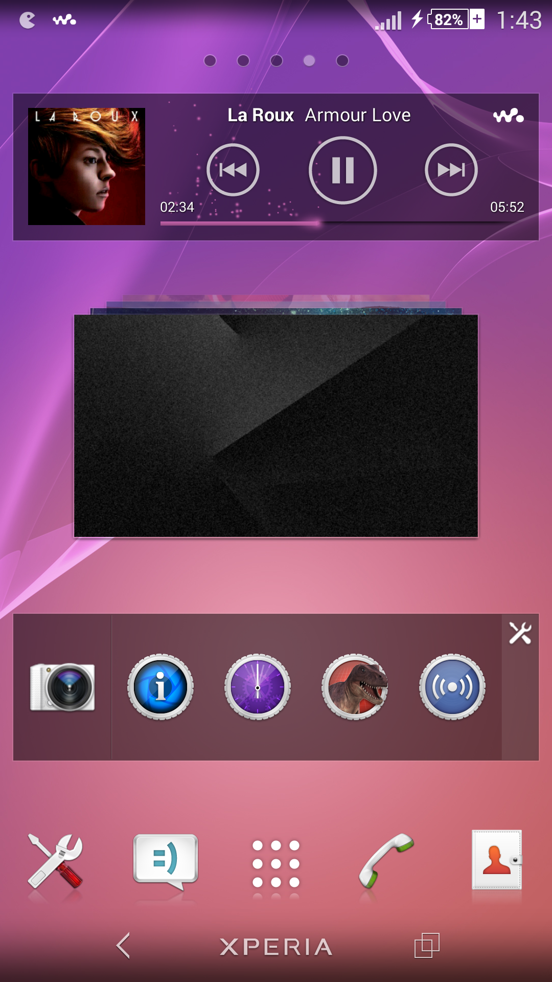 Xperia Z2 Walkman Music Widget