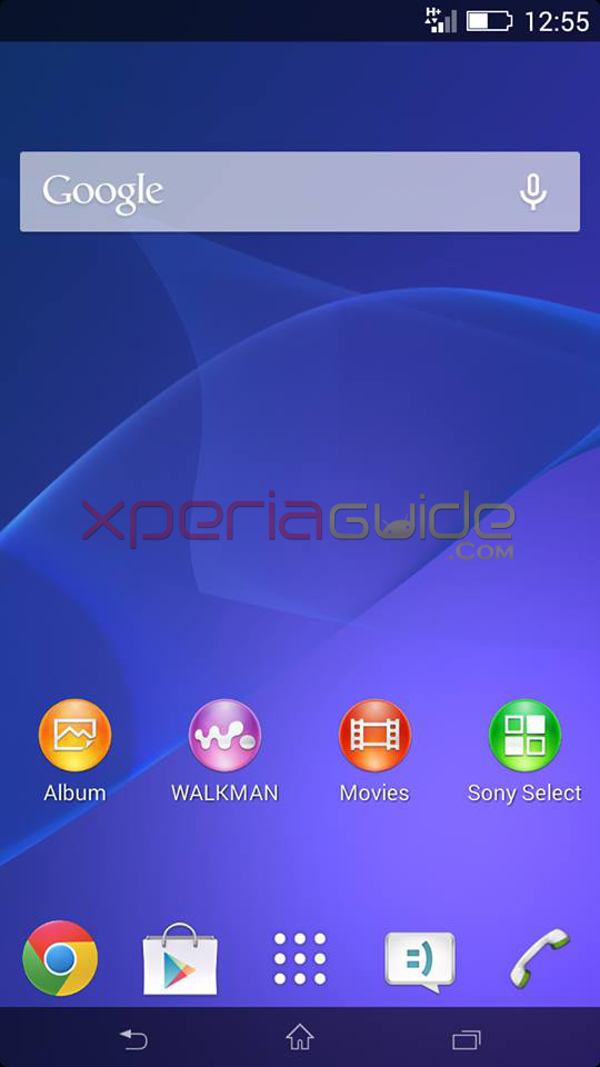 Xperia Z2 battery icon on Xperia SP