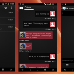 Install Xperia Z2 black themed Message KitKat app port