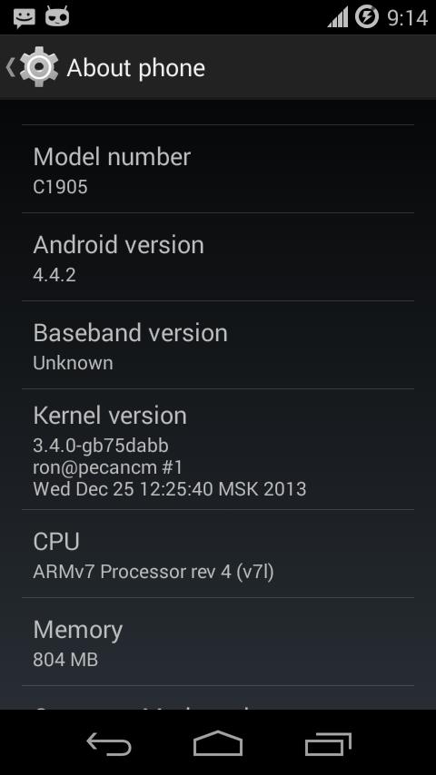 Xperia M FXP309 Build