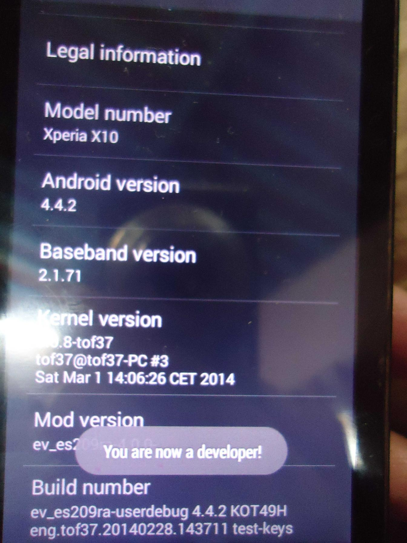 Xperia X10 KitKat 4.4.2 ROM AOSP