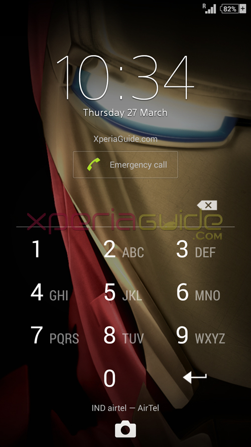 Xperia Iron Man theme Lockscreen