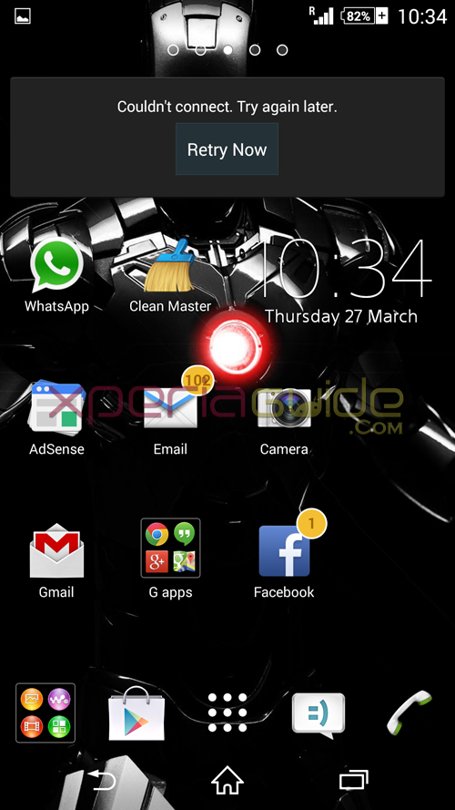 Xperia Iron Man theme for Xperia Z2