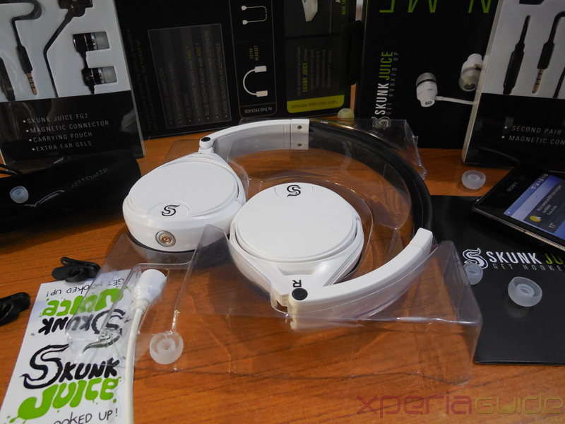 Skunk Juice LS-100 White HeadPhones