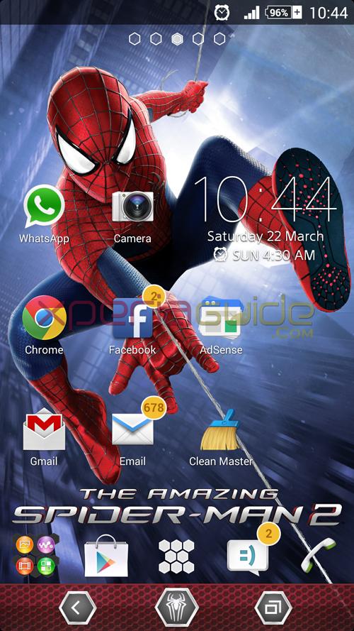 Xperia Spider Man Theme