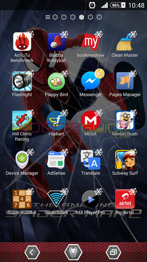 Download Xperia Amazing Spider-Man 2 Theme