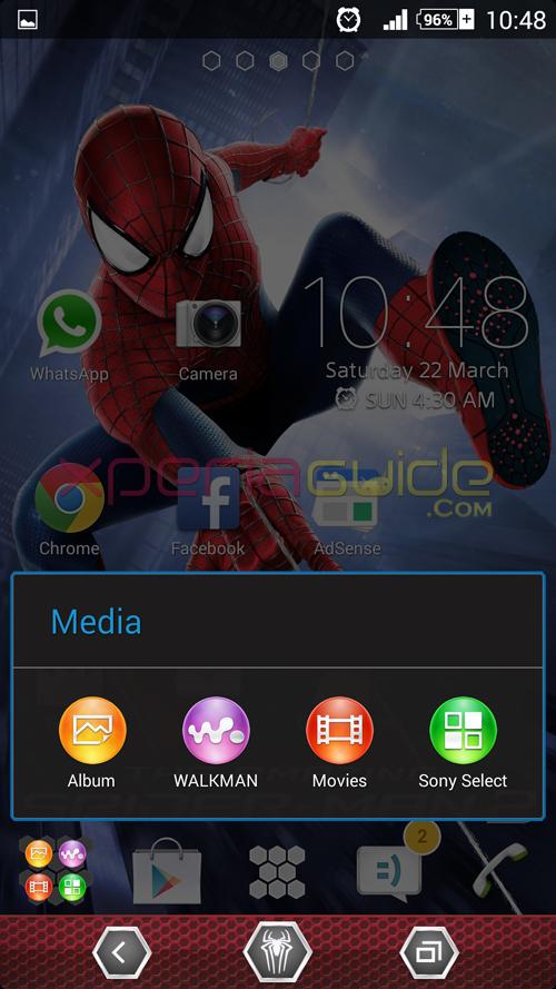 Xperia Spider-Man 2 Theme Message icons