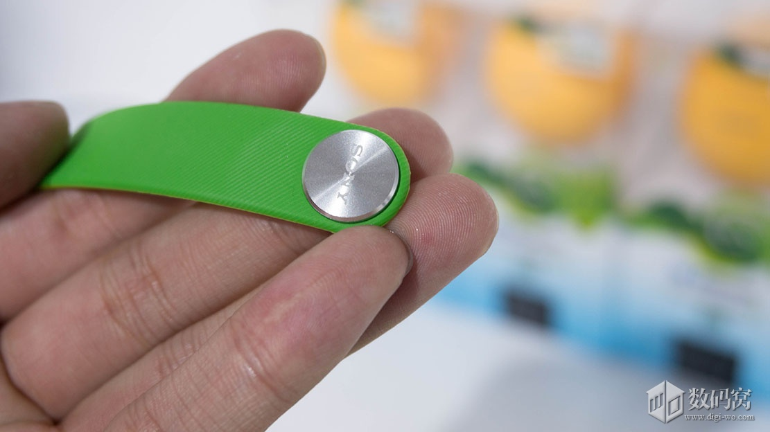 SmartBand SWR10 Sony logo on aluminium button