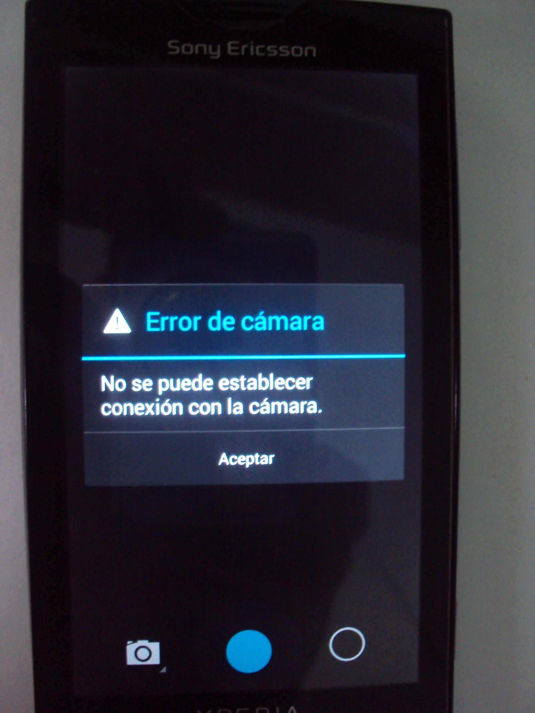 Xperia X10 KitKat 4.4.2 Camera not working
