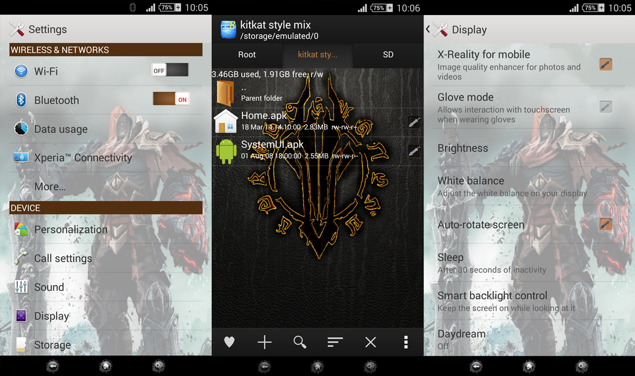 Xperia Darksiders Version 2 Theme