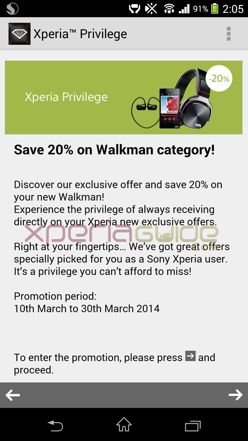 20% Discount Voucher on Walkman products
