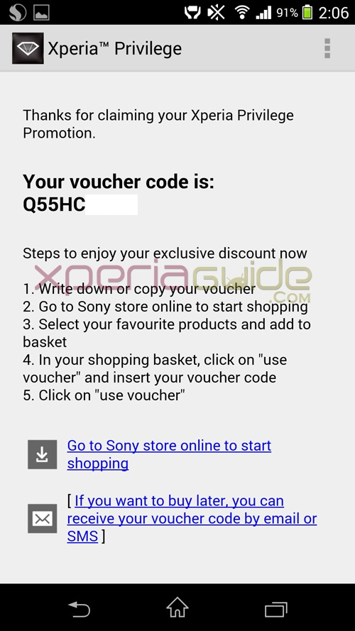 Discount Voucher on Walkman