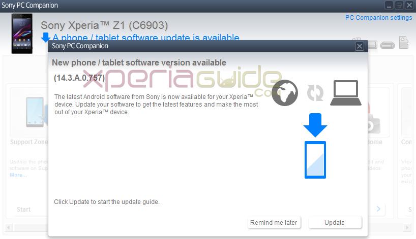 14.3.A.0.757 firmware Xperia Z1 C6903