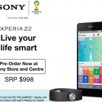 Pre order Xperia Z2 in Singapore for SRP $998 – Get Sony SmartBand SW10 free