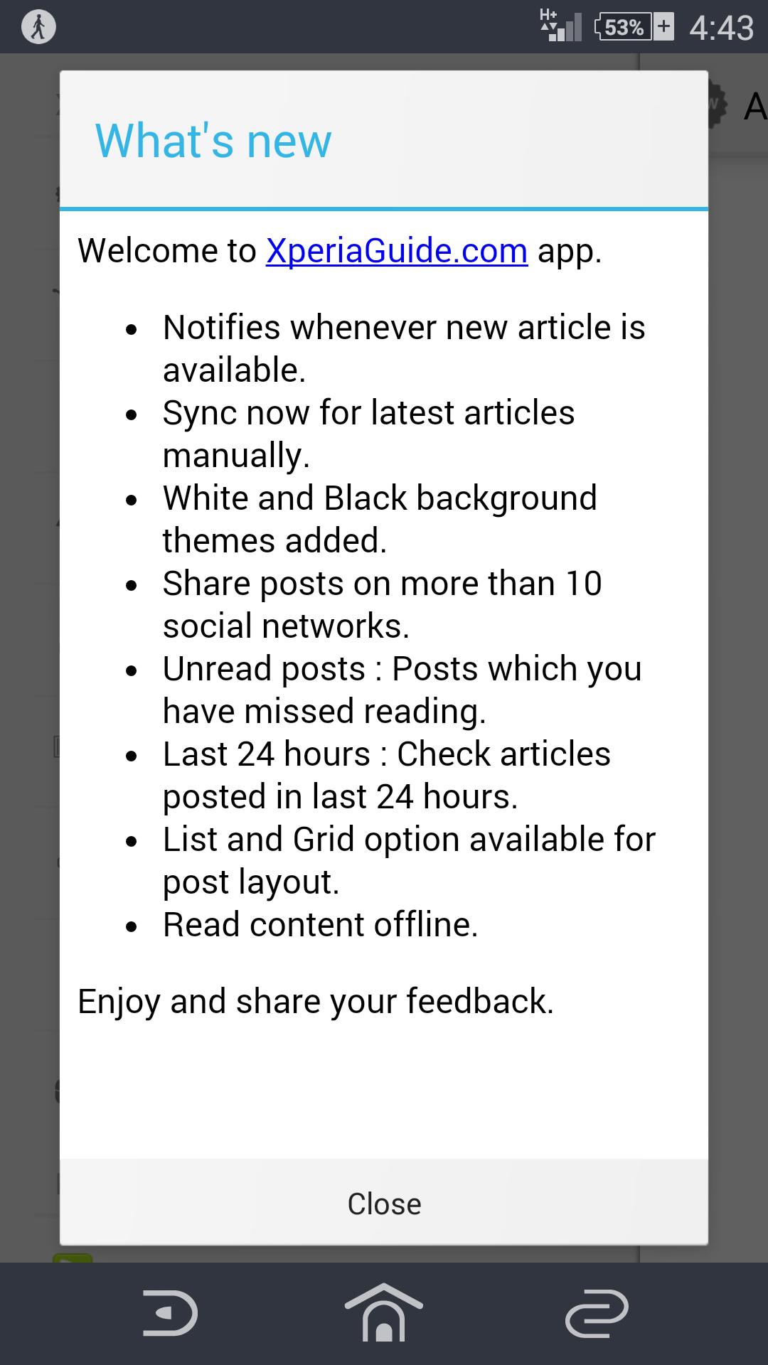 Xperia Guide app