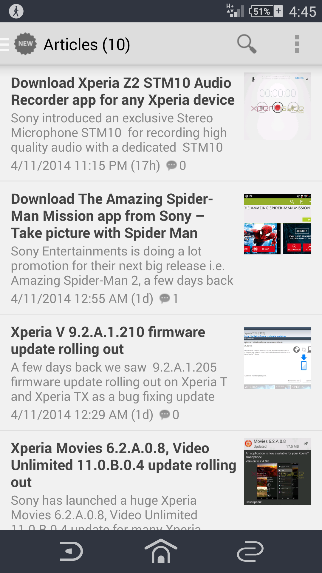 Xperia Guide version 1.0 APP