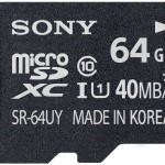 Sony launches SR-64UYA 64GB microSDHC UHS-I Class 10 Memory Card