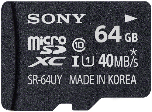 Sony SR-64UYA 64GB microSD card India