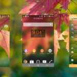 Install Clean Fall Theme, Purple Flower Theme on your Xperia device