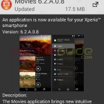 Xperia Movies 6.2.A.0.8, Video Unlimited 11.0.B.0.4 update rolling out