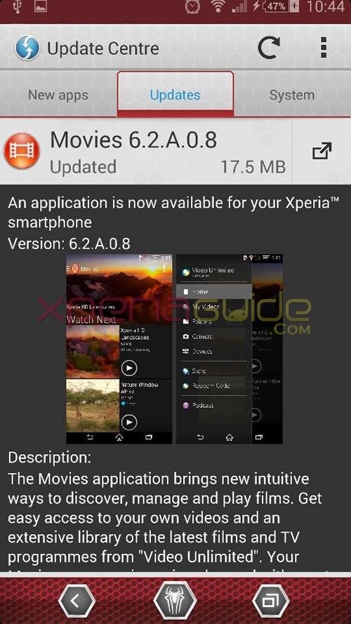 Xperia Movies 6.2.A.0.8 app