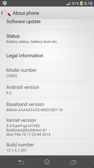 Xperia SP 12.1.A.1.201 firmware update