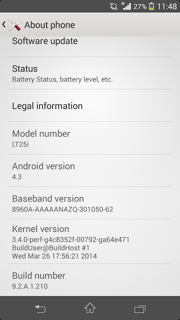 Xperia V 9.2.A.1.210 firmware
