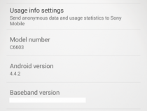 Xperia Z Leaked 10.5.A.0.227 firmware KitKat