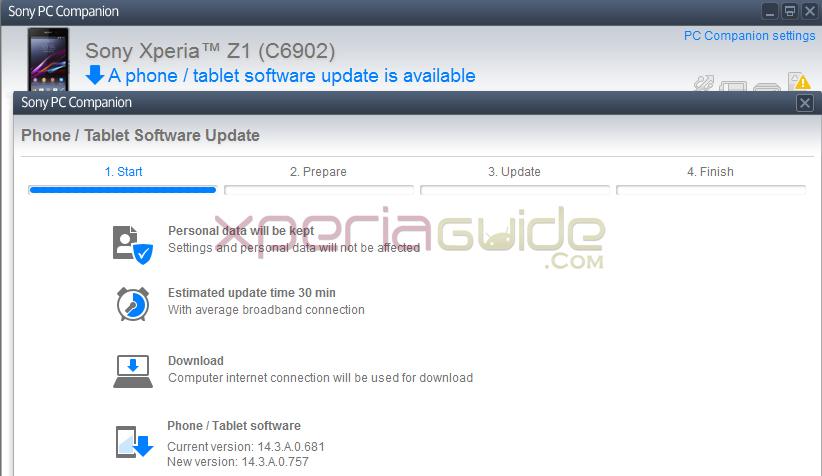 Xperia Z1 14.3.A.0.757 firmware