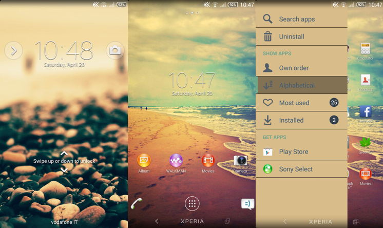 Xperia custom theme Vintage Sea v1.1