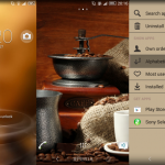 Install custom Xperia themes Coffee, Blacked on Xperia devices
