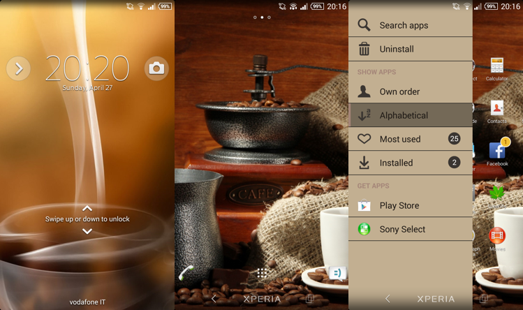 Xperia theme Coffee