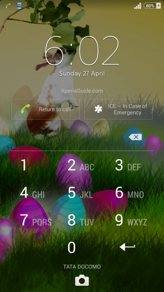 Xperia theme Easter Lockscreen