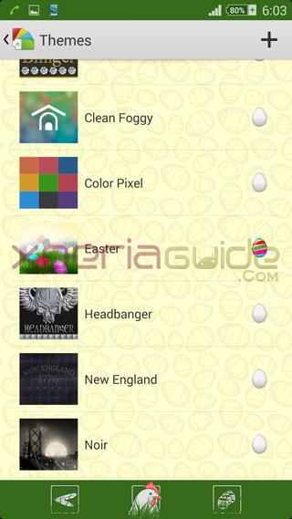 Xperia theme Easter