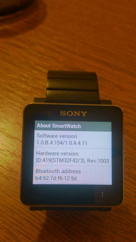 1.0.B.4.154/1.0.A.4.11 firmware SmartWatch 2