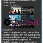Sony Album 6.1.A.0.14 app update rolling